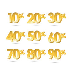 discount set template design vector image