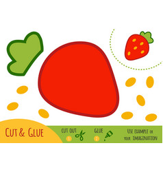 education paper game for children strawberry vector image