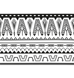 Ethnic jacquard ornament vector