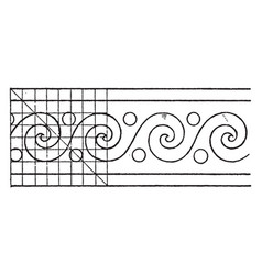 evolute spiral paintings a rectangular pattern vector image