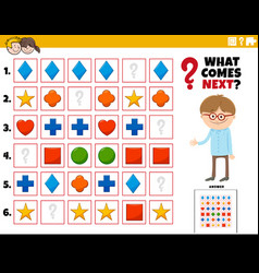 Fill pattern educational task for children vector