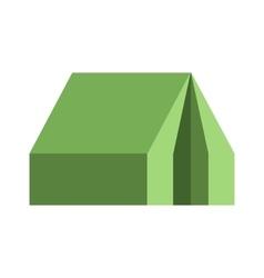 Flat tourist tent icon vector image
