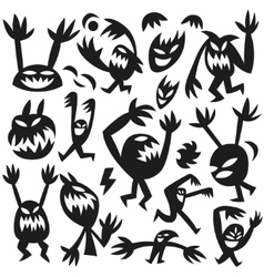 Funny monsters -doodles vector