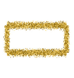 gold frame glitter texture isolated on white vector image