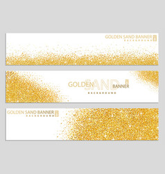 golden sand on white banners vector image