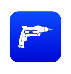 hand drill icon digital blue vector image