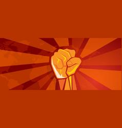 hand fist revolution symbol resistance fight vector image
