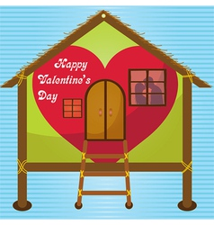 happy valentines day cards kissing on window vector image