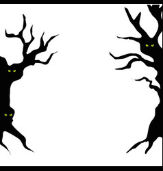 Haunted dry trees isolated icon vector