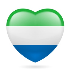 Heart icon of Sierra Leone vector image