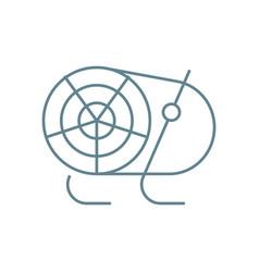 heat gun linear icon concept heat gun line vector image