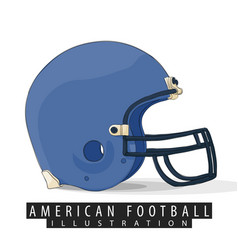 helmet for american football vector image