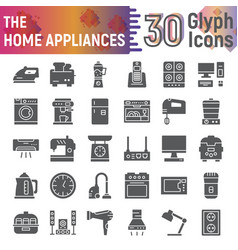 home appliances glyph icon set kitchenware vector image