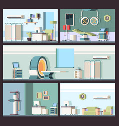 hospital interior doctor office clinic cabinet vector image
