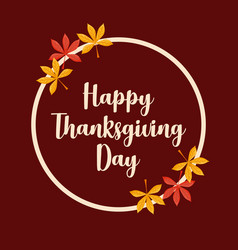 leafs frame of thanksgiving day vector image