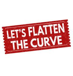 Lets flatten curve sign or stamp vector