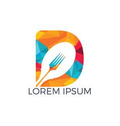 letter d food logo template vector image