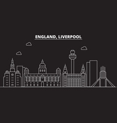 liverpool silhouette skyline great britain vector image
