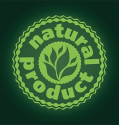 logo printing brand natures product vector image