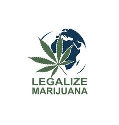 Marijuana on earth vector
