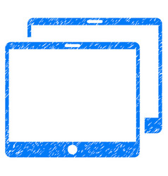 Mobile tabs grunge icon vector