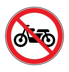 No motocycle sign vector