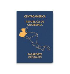 Passport guatemala citizen id template vector