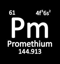 periodic table element promethium icon vector image