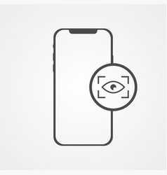phone with eye scan icon sign symbol vector image