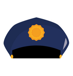 police hat uniform icon vector image