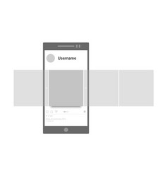 Post mockup interface carousel vector