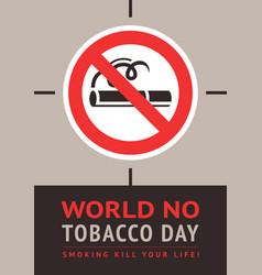 Poster world no tobacco day vector