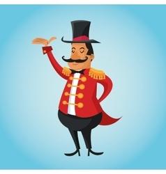 Presenter cartoon of circus vector