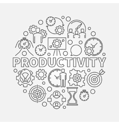 Productivity line round vector