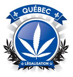 Quebec province cannabis legalisation symbol vector