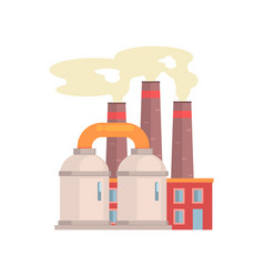 refinery plant industrial manufactury building vector image