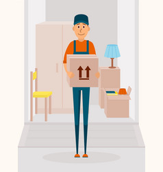 Relocation service concept poster delivery vector