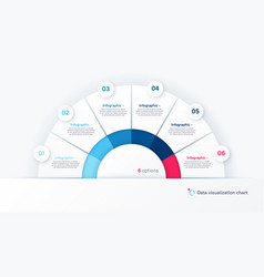round infographic chart template in the vector image