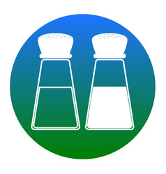 salt and pepper sign white icon in bluish vector image