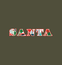 Santa concept word art vector