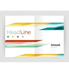 Set of business straight lines abstract vector