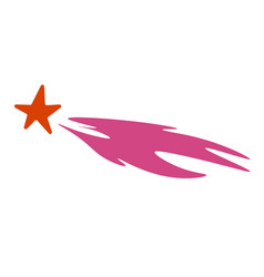 shooting star with tail falling celestial body vector image