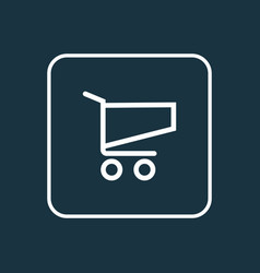 shopping outline symbol premium quality isolated vector image