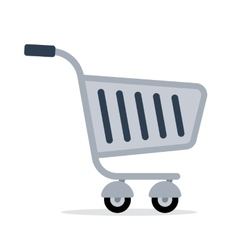 Shopping trolley cart color flat icon vector