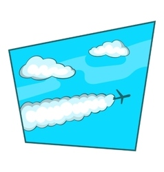 Sky icon cartoon style vector