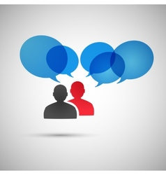 speech dialog people eps vector image