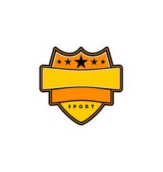 sport badge template logo designs inspiration vector image