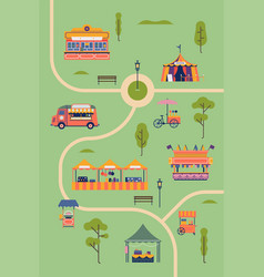 summer park food festival vector image