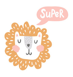 super lion vector image