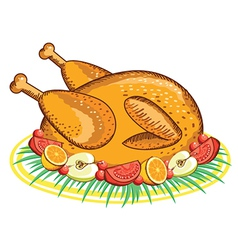 Thanksgiving Turkey food vector image